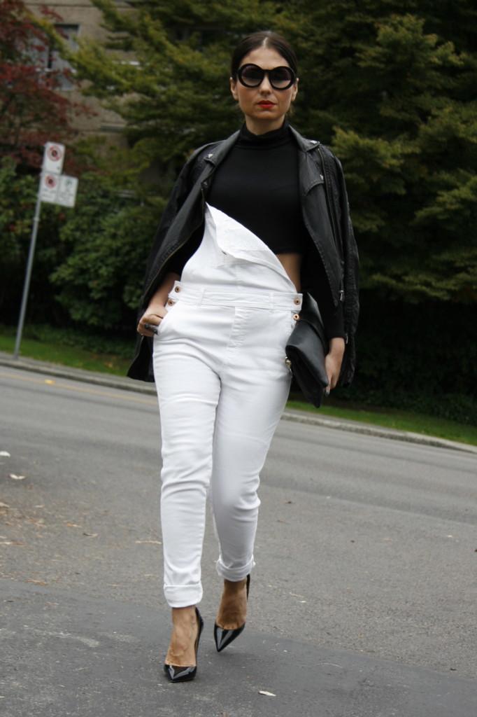 Long White Overalls