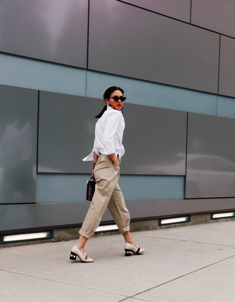 How to wear high waisted chinos