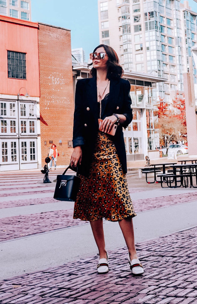 Three different ways to wear a leopard skirt